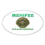 Menifee California Police Sticker (Oval 50 pk)