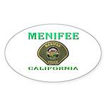 Menifee California Police Sticker (Oval 10 pk)