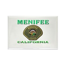 Menifee California Police Rectangle Magnet (100 pa