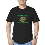 Menifee California Police Men's Fitted T-Shirt (da
