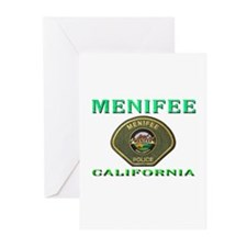 Menifee California Police Greeting Cards (Pk of 10