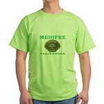 Menifee California Police Green T-Shirt