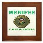Menifee California Police Framed Tile