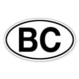 British Columbia BC Oval Decal