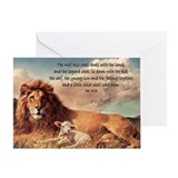 Cute Lion and lamb of god Greeting Card