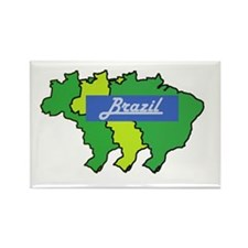 Brazil map in style Rectangle Magnet
