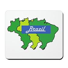 Brazil map in style Mousepad