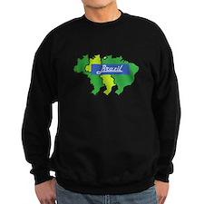 Brazil map in style Sweatshirt