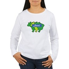 Brazil map in style T-Shirt