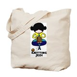 Knitting Jedi Tote Bag