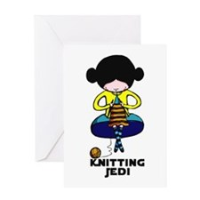 Knitting Jedi Greeting Card