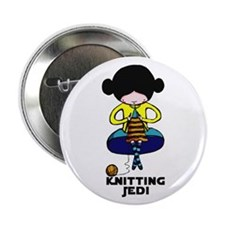 "Knitting Jedi 2.25"" Button (100 pack)"