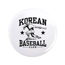 "Korean Baseball 3.5"" Button"