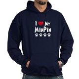 I Love My Min Pin Hoodie