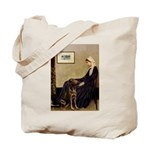 Mom's Chocolate Lab Tote Bag