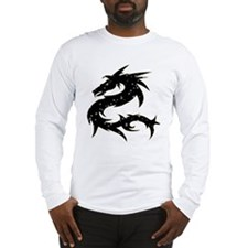 Black Star Dragon Long Sleeve T-Shirt