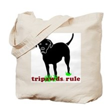 Tripawds Rule Rear Leg Lab Tote Bag