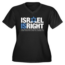 Israel A Tee 1 Women's Plus Size V-Neck Dark T-Shi
