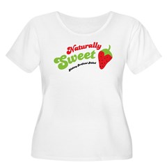 Naturally Sweet Women's Plus Size Scoop Neck T-Shi