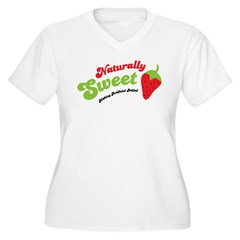 Naturally Sweet Women's Plus Size V-Neck T-Shirt