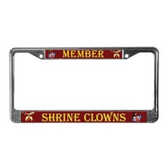 The Shrine Clowns Corner License Plate Frame