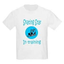 Blue Skating Star in Training Kids T-Shirt