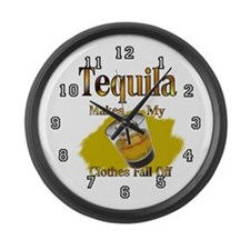 Tequila Large Wall Clock 17inch