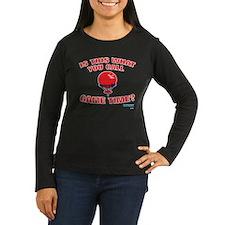 Game Time Women's Long Sleeve Dark T-Shirt