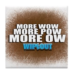Wipeout More Wow Tile Coaster