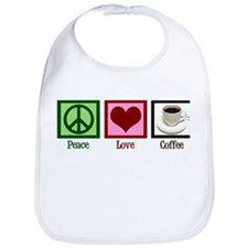 Peace Love Coffee Bib