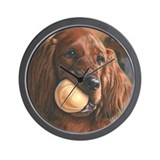 Irish Setter by Dawn Secord Wall Clock