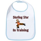 Skating Star in Training Christopher Bib