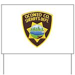 Oconto Sheriff's Dept Yard Sign