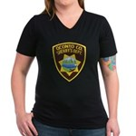 Oconto Sheriff's Dept Women's V-Neck Dark T-Shirt