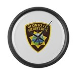Oconto Sheriff's Dept Large Wall Clock