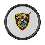 Oconto Sheriff's Dept Large Wall Clock