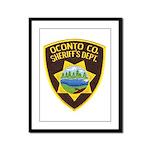 Oconto Sheriff's Dept Framed Panel Print