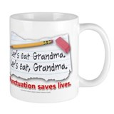 Punctuation Saves Lives Small Mugs