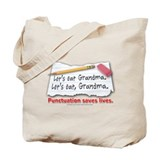 Punctuation Saves Lives Tote Bag