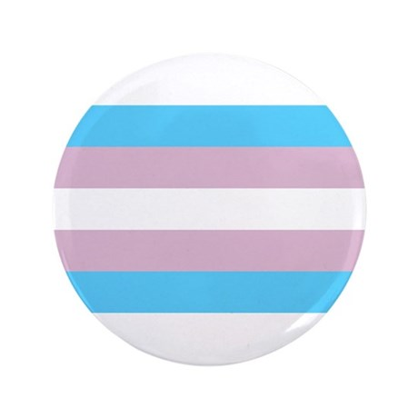 "Trans Flag 3.5"" Button (100 pack)"