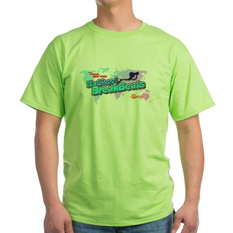 NuSkool BreakBeats Green T-Shirt
