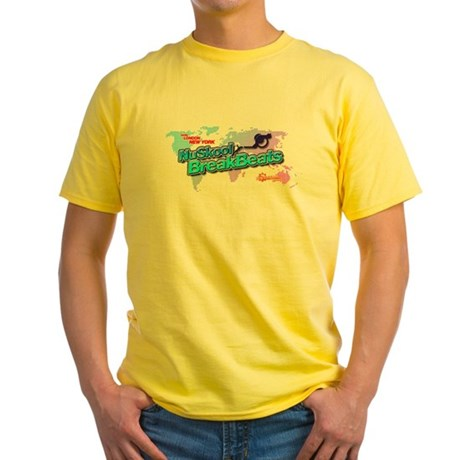 NuSkool BreakBeats Yellow T-Shirt