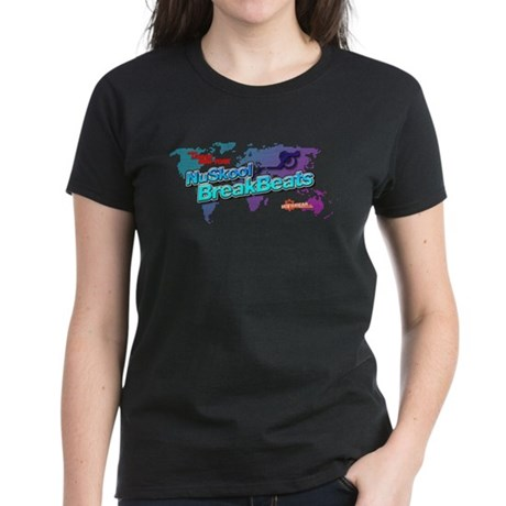 NuSkool BreakBeats Women's Dark T-Shirt