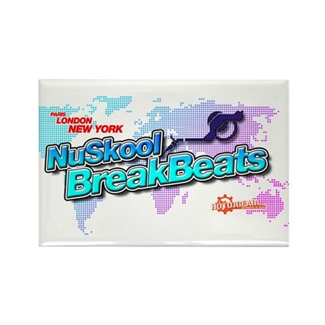 NuSkool BreakBeats Rectangle Magnet