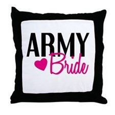 Army Bride Throw Pillow
