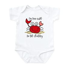 Too Cute Crab Infant Bodysuit