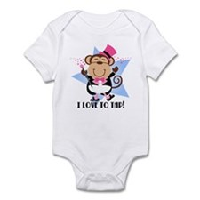 Monkey Tap Dancer Infant Bodysuit