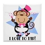 Monkey Tap Dancer Tile Coaster