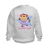 Monkey Twirl Girl Sweatshirt