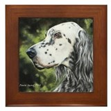 English Setter by Dawn Secord Framed Tile